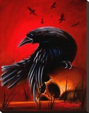Crow Reproduction transf&#233;r&#233;e sur toile par James Strickland