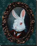 Lapin blanc Reproduction transférée sur toile par  Larkin