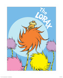 The Lorax (on blue) Print by Theodor (Dr. Seuss) Geisel