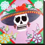 Senorita Dead Stretched Canvas Print by  Malibloc