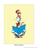 Theodor (Dr. Seuss) Geisel - The Cat in the Hat (on yellow) - Reprodüksiyon
