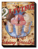 Taking Breaths Stretched Canvas Print by Rodney White