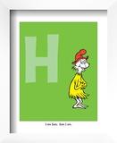 H - I Am Sam. Sam I Am. (on green) Poster by Theodor (Dr. Seuss) Geisel