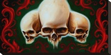Three Skulls Stretched Canvas Print by James Strickland