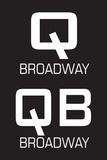 Q & QB Broadway Plaque en métal