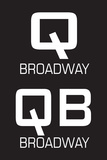Q & QB Broadway Tin Sign