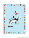 The Cat in the Hat: The Cat (on blue) Posters by Theodor (Dr. Seuss) Geisel