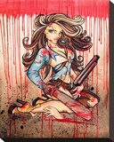 Ash ( Hello Boomstick) Stretched Canvas Print by Alayna Magnan