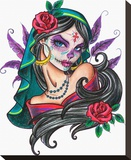 Muerta Stretched Canvas Print by Alayna Magnan