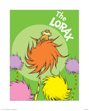 The Lorax (on green) Prints by Theodor (Dr. Seuss) Geisel