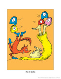 Fox in Socks (on orange) Posters by Theodor (Dr. Seuss) Geisel