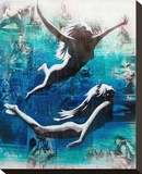 Under vattnet Sträckt Canvastryck av Marco Almera