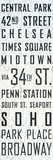 New York Sites Tin Sign