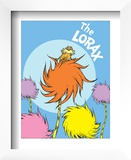 The Lorax (on blue) Prints by Theodor (Dr. Seuss) Geisel