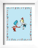 The Cat in the Hat: Thing One (on blue) Posters by Theodor (Dr. Seuss) Geisel