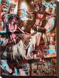 Hulaflickor Sträckt Canvastryck av Marco Almera