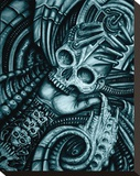 Alien Bio Stretched Canvas Print by Roman (artist) 