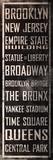 NY Famous Places Vintage Plechová cedule