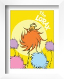 The Lorax (on yellow) Prints by Theodor (Dr. Seuss) Geisel