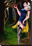 Snow White Stretched Canvas Print by Kris Chisholm