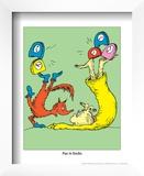 Fox in Socks (on green) Prints by Theodor (Dr. Seuss) Geisel