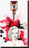 Poisoned Marilyn Stretched Canvas Print by Christina Ramos