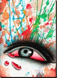 Bloody Eye Stretched Canvas Print by Christina Ramos