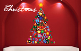 Christmas Tree Collage Wall Decal