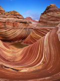 Colorful Sandstone Swirls in the Wave Formation, Paria Canyon, Utah, Usa Photographic Print by Dennis Flaherty
