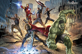 Les Avengers: Attaque Posters