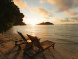 Likuliku Lagoon Resort, Malolo Island, Mamanucas, Fiji Photographic Print by Douglas Peebles