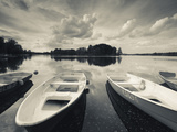 Lake Galve, Trakai Historical National Park, Trakai, Lithuania Photographic Print by Walter Bibikow