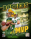 Aaron Rodgers 2011 NFL MVP Portrait Plus Photo