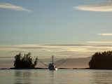 Troller at Sunset, Southeast Alaska Near Ketchikan, Usa Photographic Print by Savanah Stewart