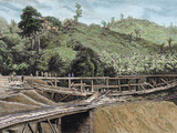 Construction of the Panama Canal. Works in Bridge Called 'Alto-Obispo' Photographic Print by  Prisma Archivo