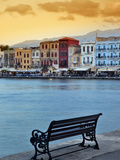 Chania at Dusk, Chania, Crete, Greece Photographic Print by Adam Jones