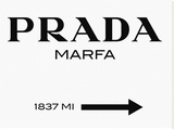 Prada Marfa Sign Reproduction transférée sur toile par  Elmgreen and Dragset