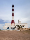 Taguermes Lighthouse, Sidi Mahres Beach, Houmt Souq, Jerba Island, Tunisia Photographic Print by Walter Bibikow