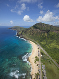 Sandy Beach, Koko Crater, Honolulu, Oahu, Hawaii Photographic Print by Douglas Peebles