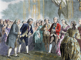 Statesman and Scientist. Franklin at Louis Xvi and Marie Antoinette, Paris, France Photographic Print by Prisma Archivo