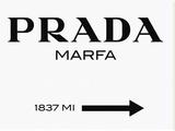 Panneau Prada Marfa Reproduction sur toile tendue par  Elmgreen and Dragset