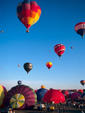 Hot Air Balloons Take Flight, Albuquerque, New Mexico, Usa Photographic Print by Charles Crust