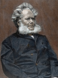 Henrik Ibsen (Skien, 1828-Christiania, 1906). Norwegian Writer Photographic Print by  Prisma Archivo