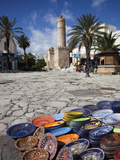 Medina Market by the Great Mosque, Sousse, Tunisia Photographic Print by Walter Bibikow