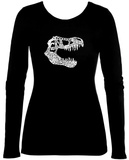 Juniors: Long Sleeve - T-Rex Dinosaur T-Shirt