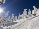 Skiing Untracked Powder at Whitefish Mountain Resort, Montana, Usa Photographic Print by Chuck Haney