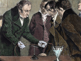 Danish Physicist and Chemist. Oersted Discovers Electromagnetism Photographic Print by  Prisma Archivo