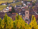 Riquewihr, Alsatian Wine Route, Alsace Region, Haut-Rhin, France Photographic Print by Walter Bibikow