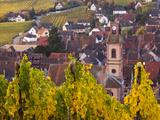 Riquewihr, Alsatian Wine Route, Alsace Region, Haut-Rhin, France Photographic Print by Walter Bibikow