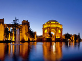 Panoramic of the Palace of Fine Arts at Dusk in San Francisco, California, Usa Stampa fotografica di Chuck Haney